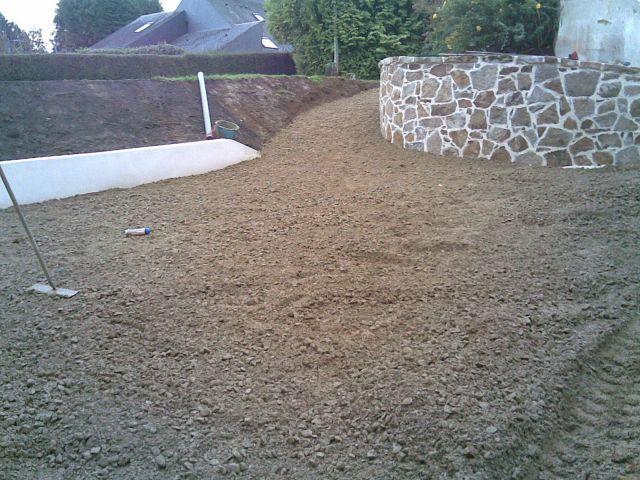 Préparation du sol avant bitumage